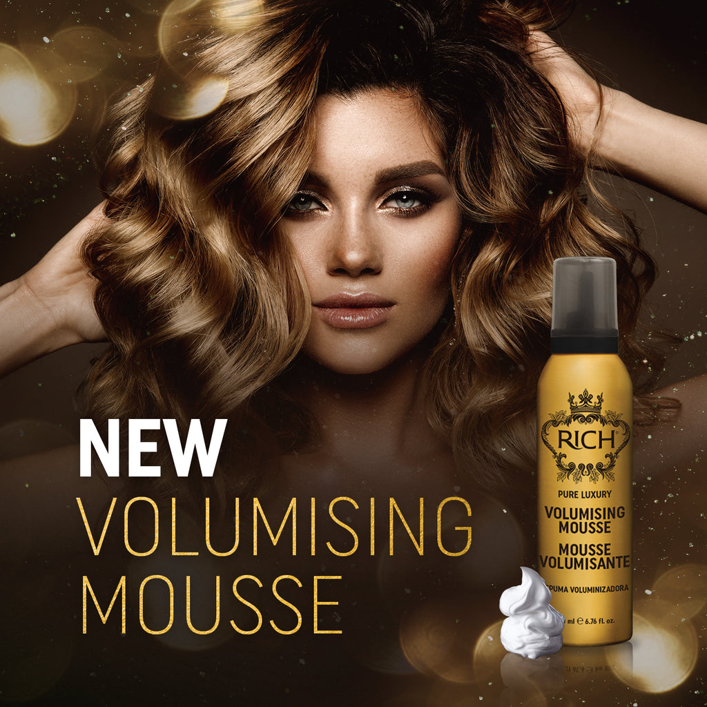 RICH Volumising mousse banner