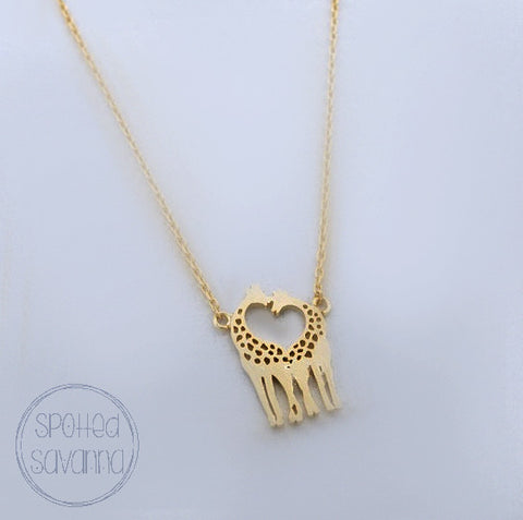 Heart-Shaped Giraffes (Gold Color)
