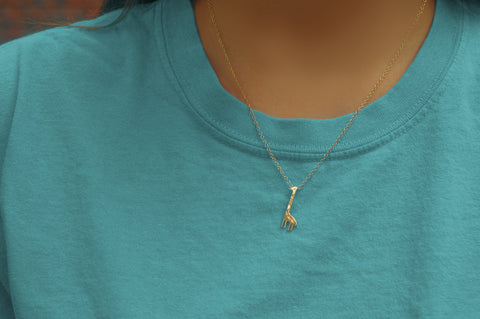 Giraffe Necklace (Gold Color)