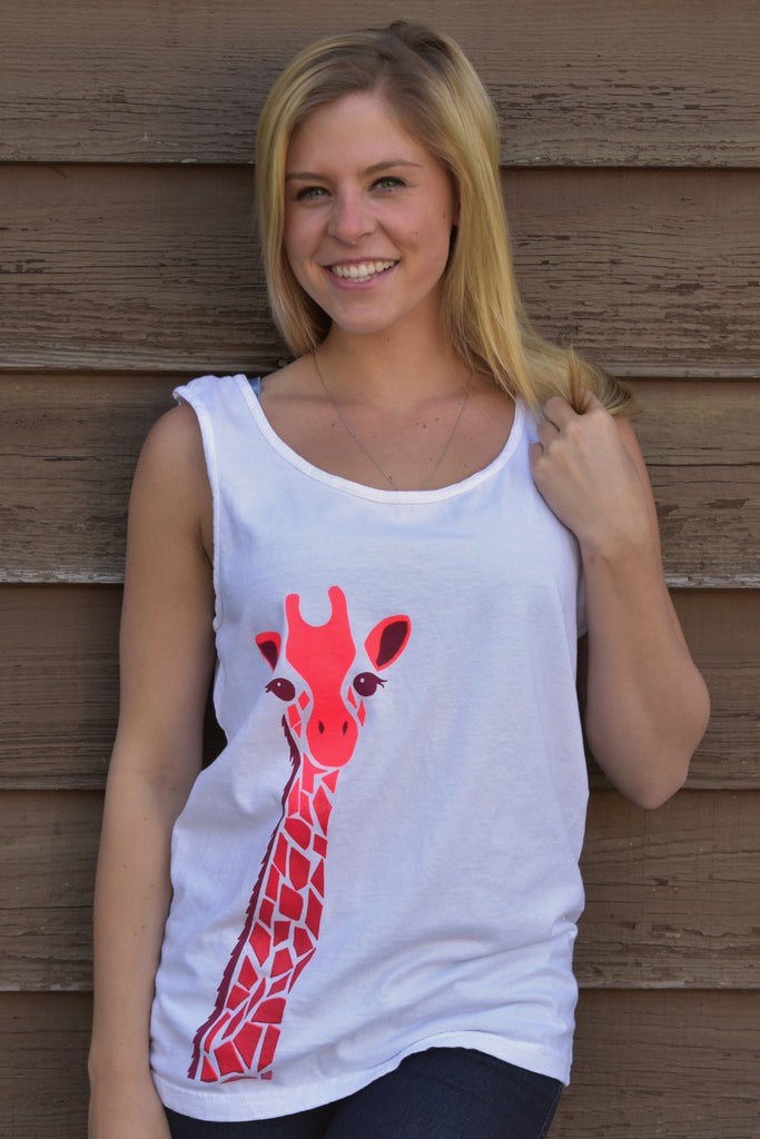 Long Neck Tank - Pink - Large