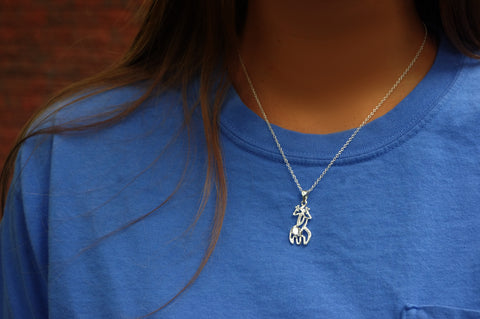 Double Giraffe Crystal Necklace