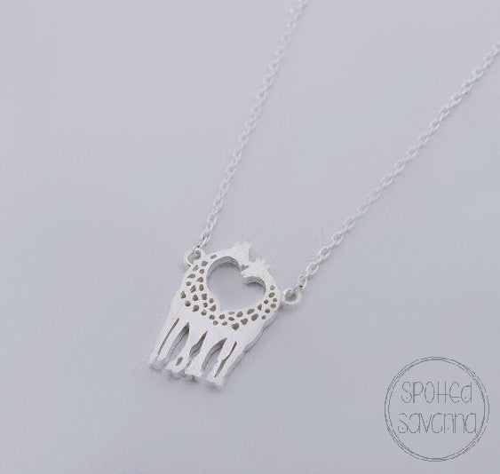Heart-Shaped Giraffes (Silver)