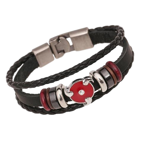 Sharingan Style Leather Bracelets (2 styles)