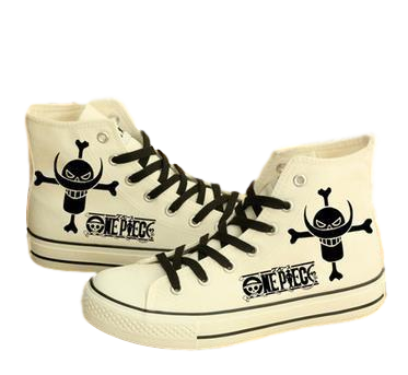 One Piece Whitebeard High Top Canvas Sneakers