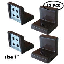 "SL 1""x1""x1"" 90 Degree Metal Right Angle Bracket Shelf Support with Plastic Cover, BROWN, 4PCS  …"