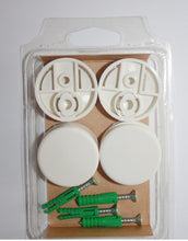 "Round Mirror Mounting Clips Set (4-Pack) Diam. 1-3/8"" White"