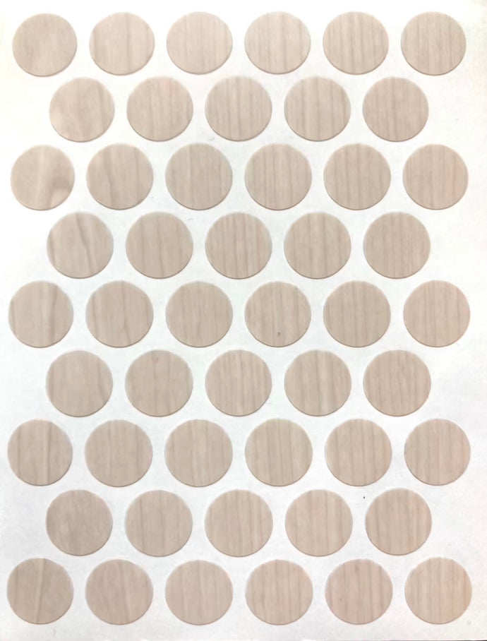 Set of!4!Sheets Self Adhesive PVC ScrewCoverCap9/16