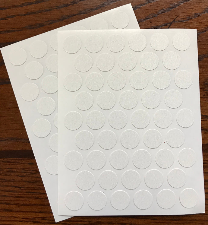 SET OF 2  Sheets X 50=100caps Self Adhesive PVC Screw Cover Cap 9/16
