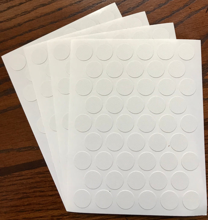 SET OF  4!!!!  Sheets X 50=200caps Self Adhesive PVC Screw Cover Cap 9/16