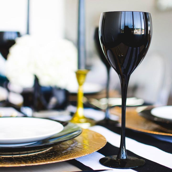 Black Wine Glass