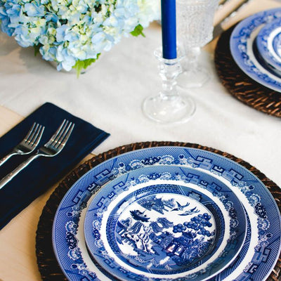 Blue and White Salad Plate
