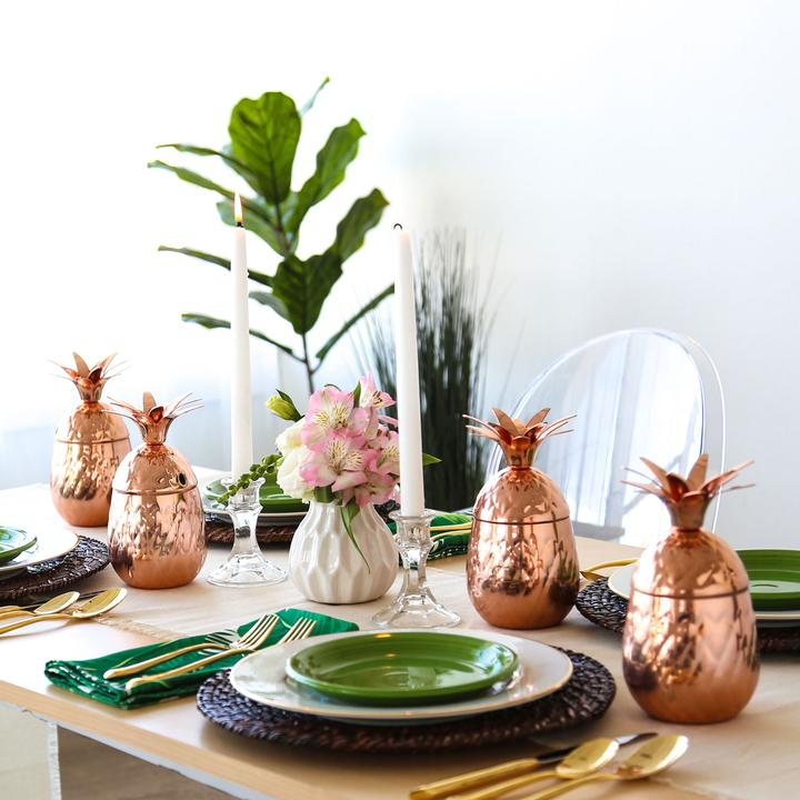 Copper Pineapple Tumblrs