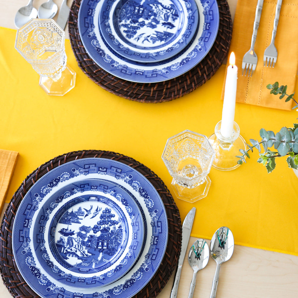 Blue and White Dinner Plate