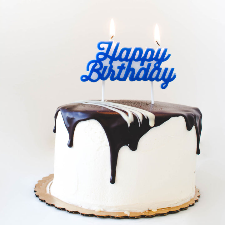 Happy Birthday Script Candle