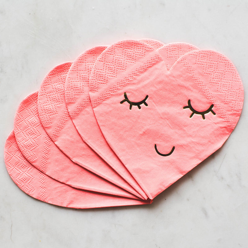 Blushing Heart Small Napkins