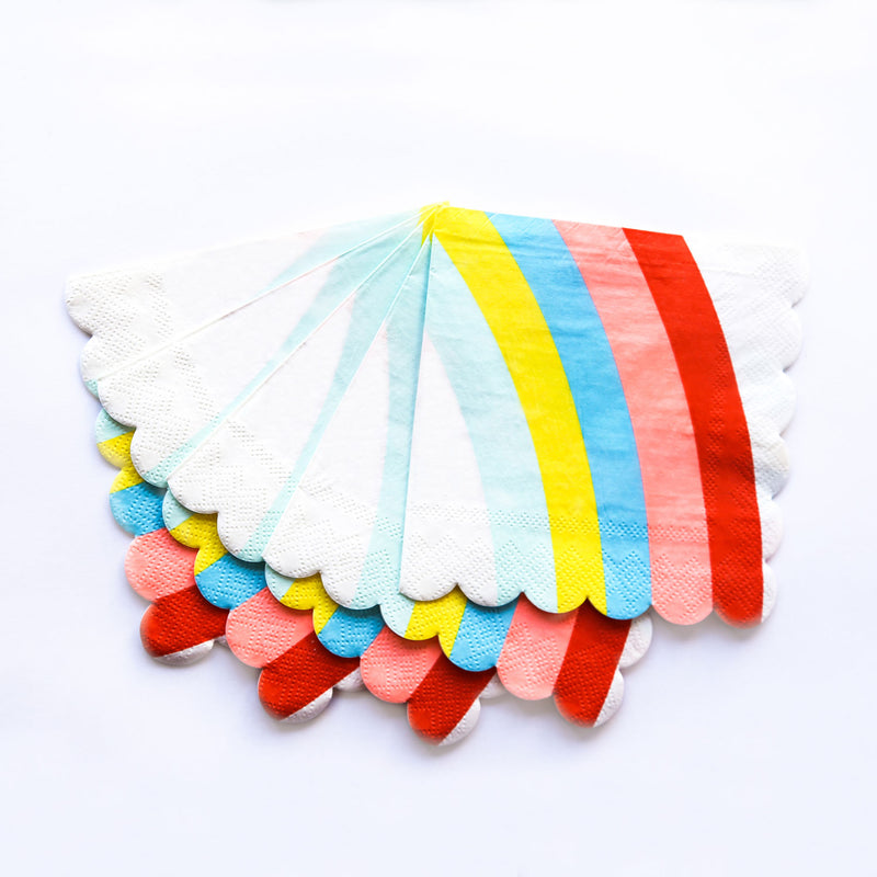 Rainbow Small Paper Napkins