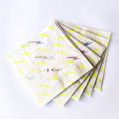 Lightning Bolt Small Paper Napkins