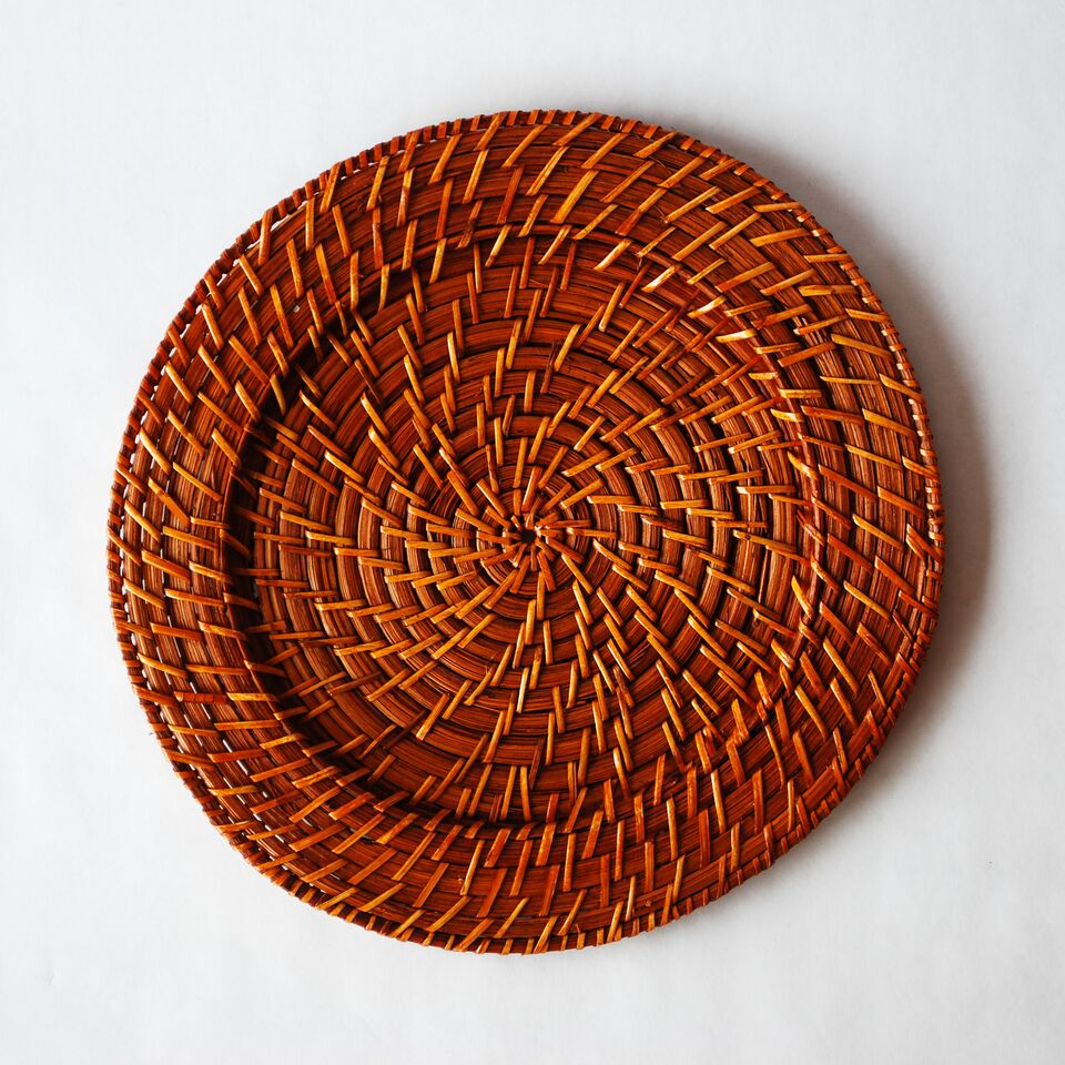 Light Brown Rattan Charger