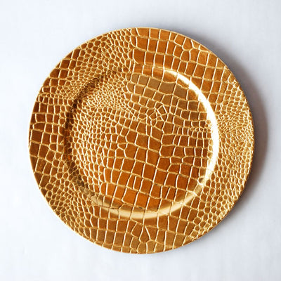 Croc Embossed Melamine Charger