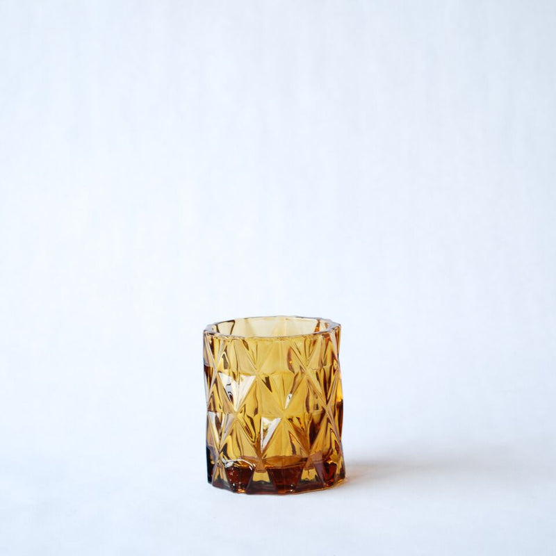Amber Tea Light Candle Holder
