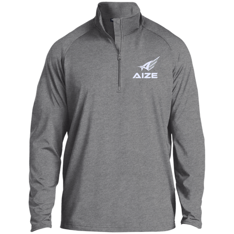 Men's White Aize 1/2 Zip Athletic Pullover