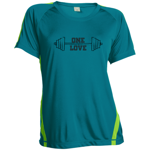 Ladies' One Love Squat Two Tone T Shirt