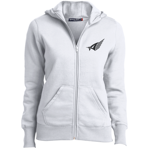 Ladies' Aize Black Zip Up Hoodie
