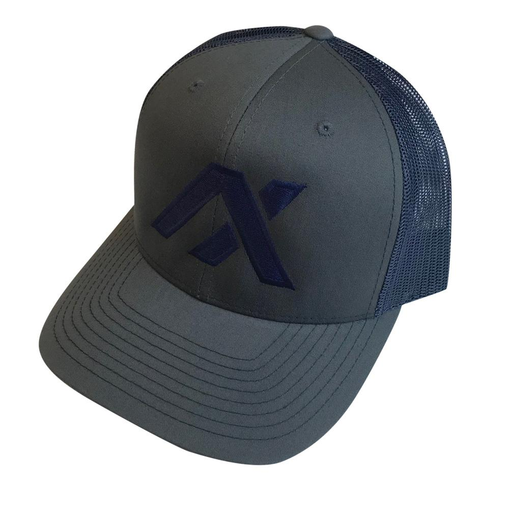 AXIL Blue Logo Blue Back Trucker Hat
