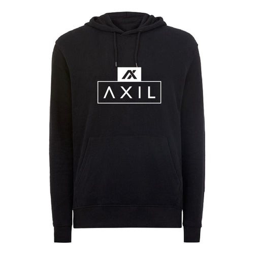 AXIL White Center Logo Black Hoodie