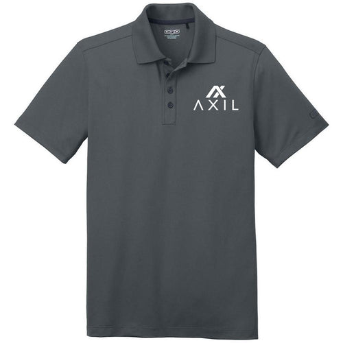 AXIL White Logo Grey Polo