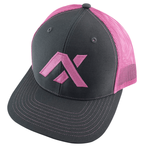 AXIL Pink Logo Pink Back Trucker Hat