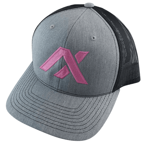 AXIL Pink Logo Black Back Trucker Hat