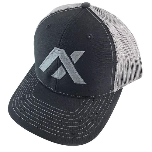 AXIL Grey Logo Grey Back Trucker Hat