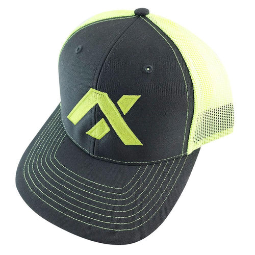 AXIL Green Logo Green Back Trucker Hat