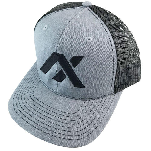 AXIL Black Logo Black Back Trucker Hat