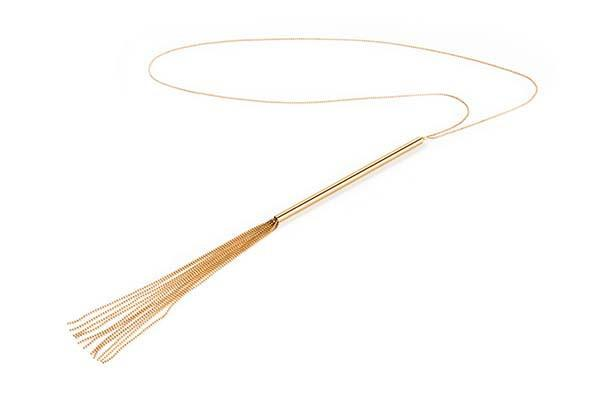 Bijoux Indiscrets Magnifique Chain Whip & Necklace Gold-Bijoux Indiscrets-Madame Claude