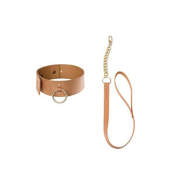 Maze Wide Choker With Leash-Bijoux Indiscrets-Madame Claude