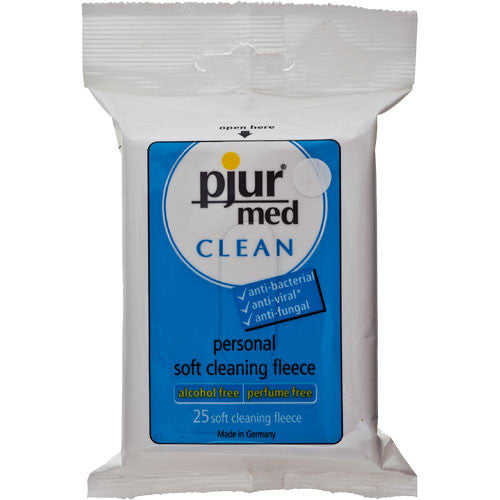 Pjur Med Clean Fleece Pack of 25-Pjur-Madame Claude
