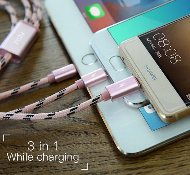 USB 3 IN 1 OR 2 IN 1 CHARGING DATA CABLE