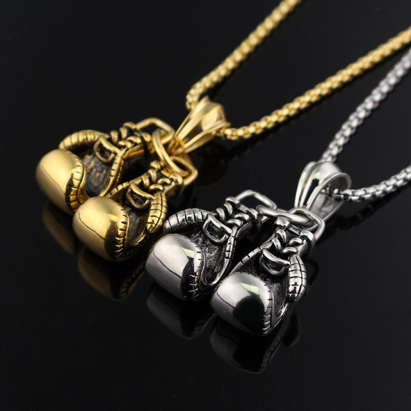 BOXING GLOVE MENS PENDANT NECKLACE