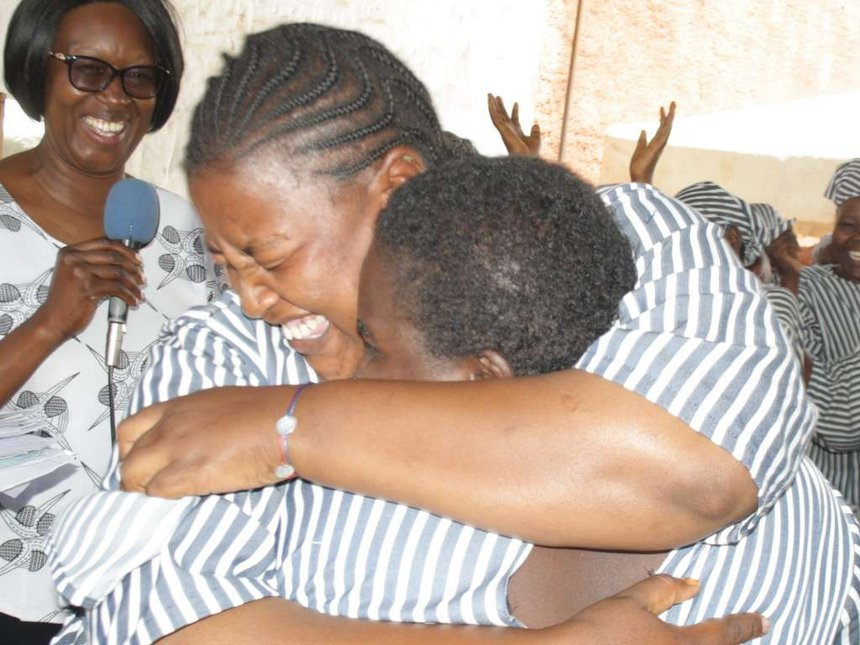 Overjoyed prisoners after release from Langata Women's Maximum security prison
