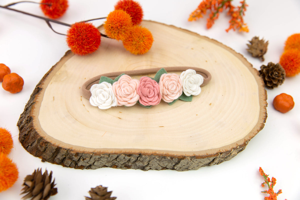 Felt Flower Crown | Blush