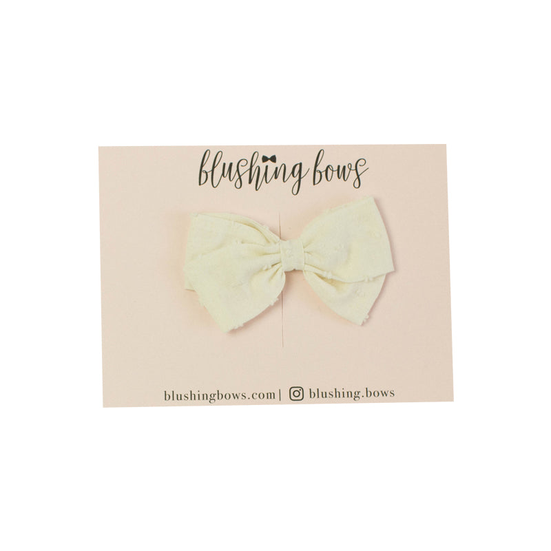 Fall | Cream Swiss Dot | Multiple Styles (Headband or Clip)