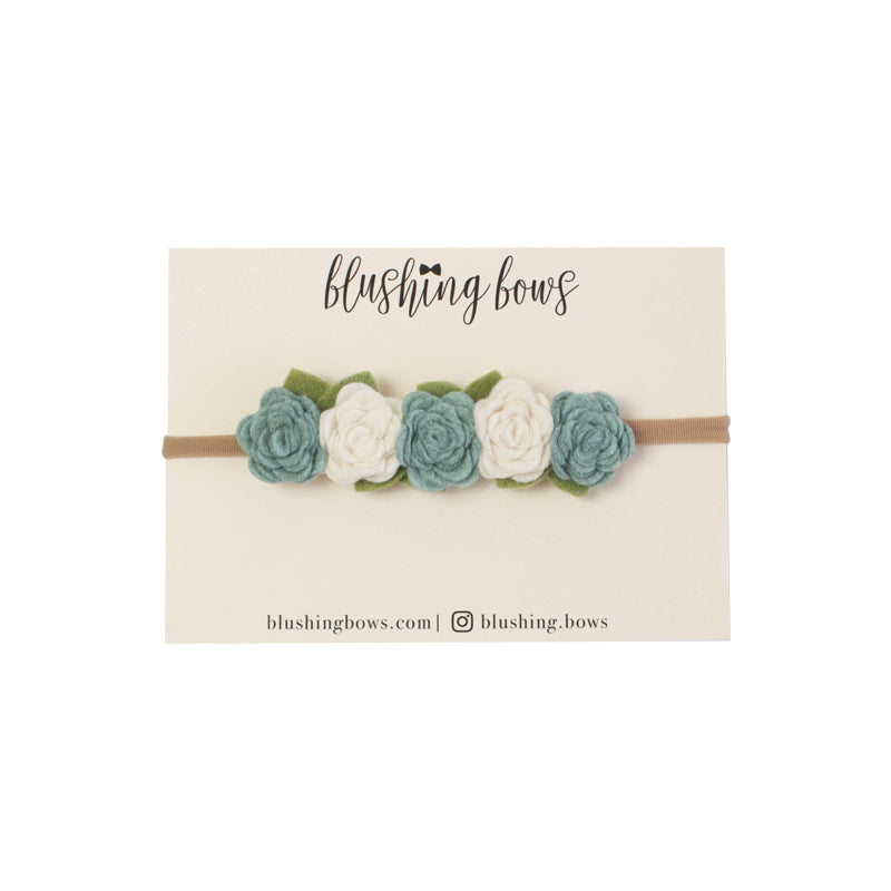 Felt Flower Crown | Dusty Blue