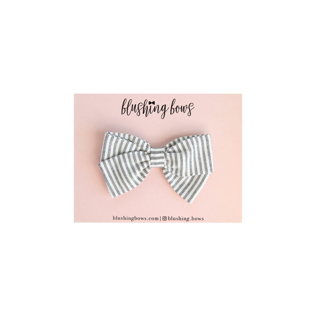 Grey Stripe | Multiple Styles (Headband or Clip)|