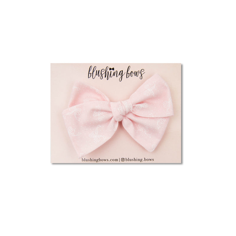 Pink with Bows Vintage | Multiple Styles (Headband or Clip)