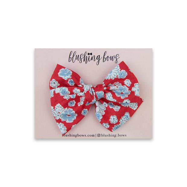 Red and Blue Floral $5 | Multiple Styles (Headband or Clip)
