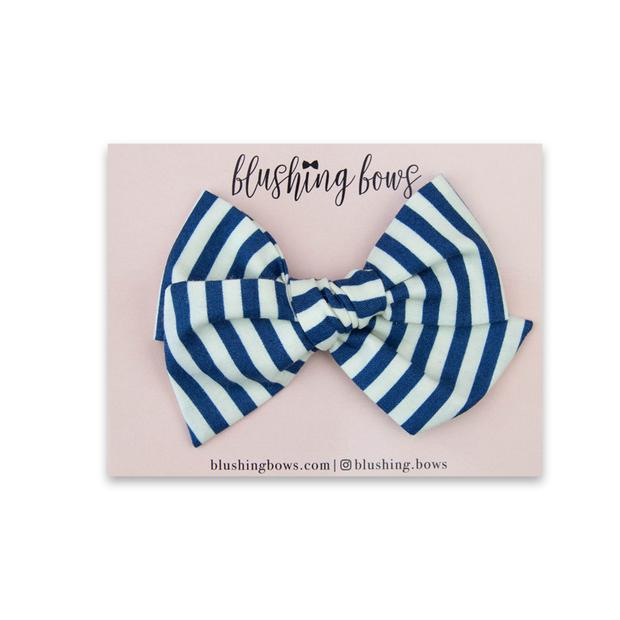 Blue and White Stripe $5 | Multiple Styles (Headband or Clip)