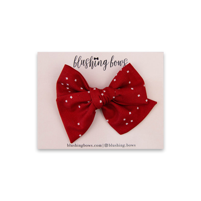 Red Speckle | Multiple Styles (Headband or Clip)