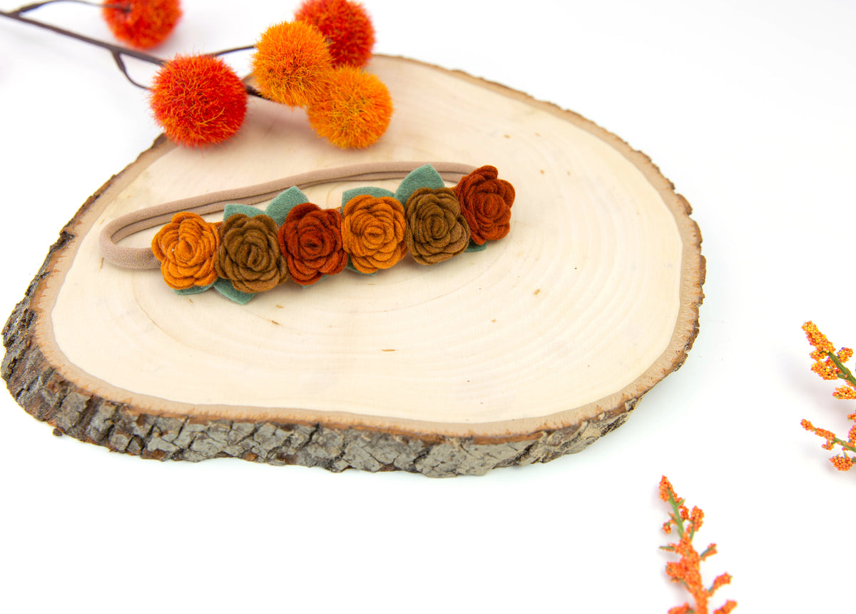 Felt Flower Crown | Warm Leaves